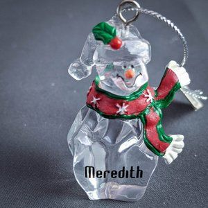 Meredith Christmas Ornament Personalized Snowman